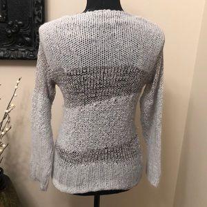 BKE Sweaters - BKE Boutique Gray/Silver Sweater